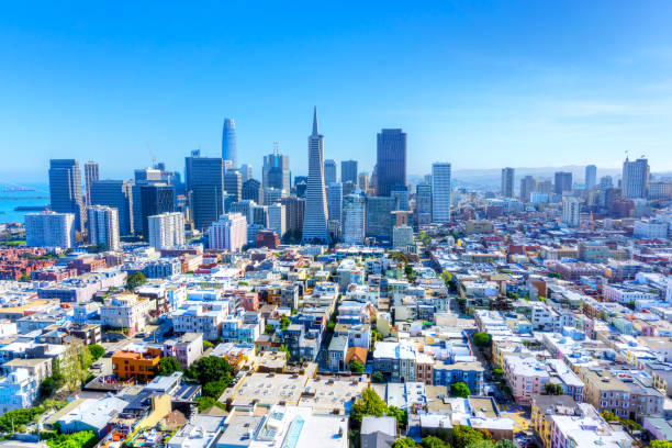 Urban Skyline of San Francisco, California, USA stock photo