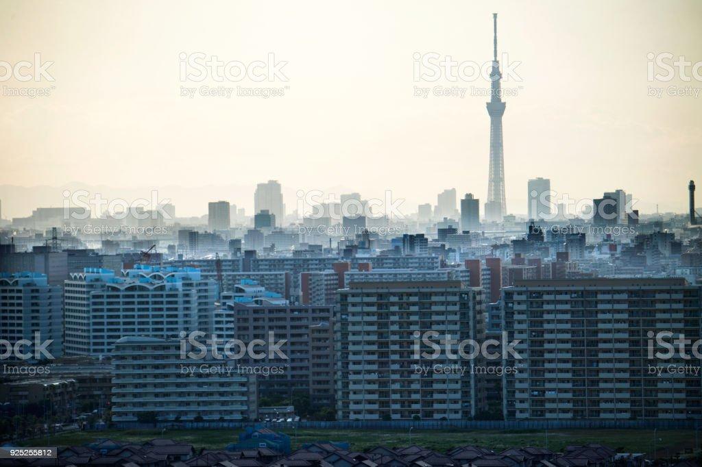 Urban skyline of Tokyo stock photo
