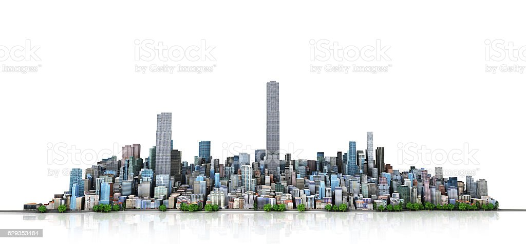 Urban skyline. stock photo