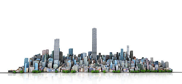 Urban skyline. stock photo