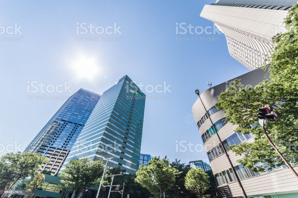 Urban skyscraper groups royalty-free stock photo