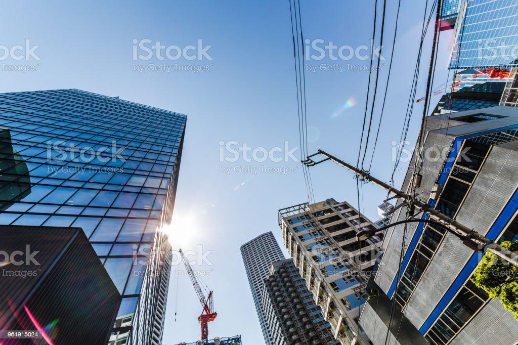 Urban skyscraper groups royalty-free stock photo