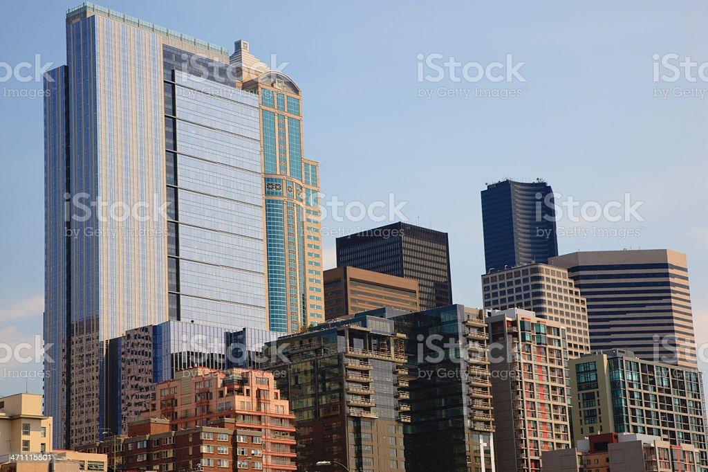 Urban Skyscrapers Seattle Skyline stock photo