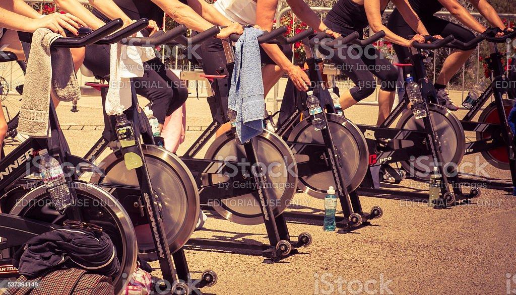 Urban Spinning stock photo