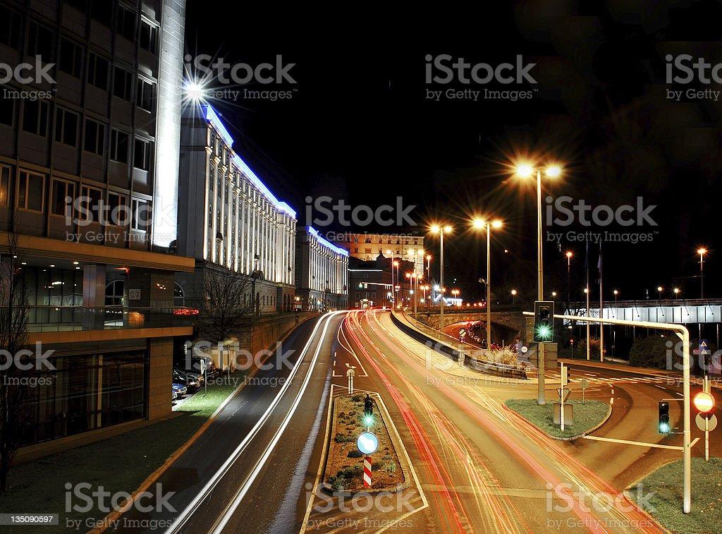 Urban street Linz scenery - Austria royalty-free stock photo