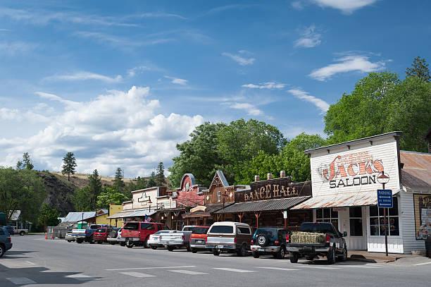 urban street scene of Winthrop stock photo