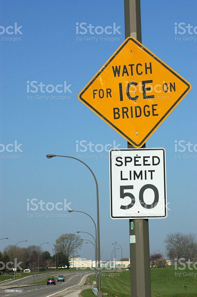 Urban Street Signs -Ice, Speed royalty-free stock photo