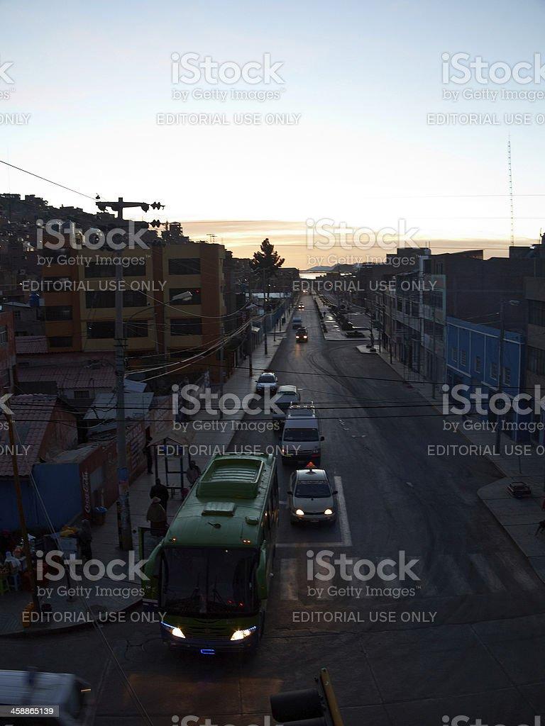 Urban sunset in Peru royalty-free stock photo