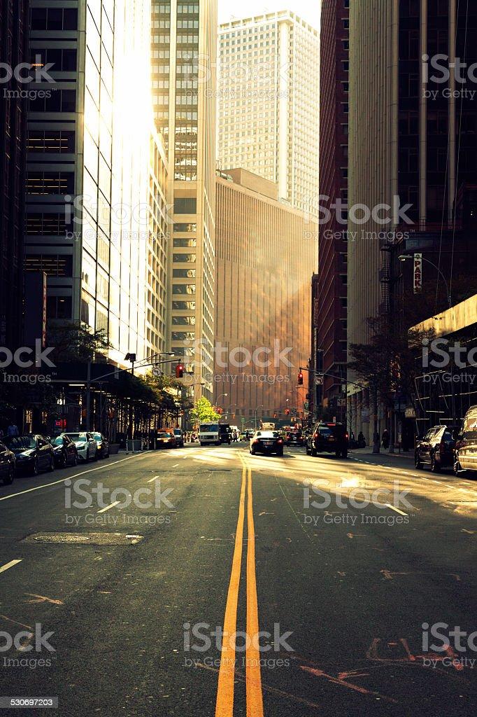 Urban Sunset New York stock photo
