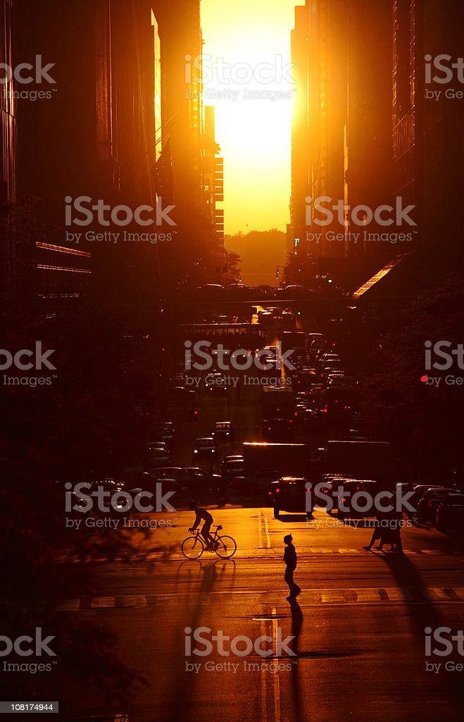 Urban Sunset royalty-free stock photo