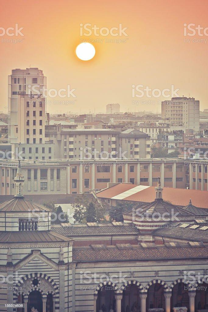 Urban sunset. royalty-free stock photo