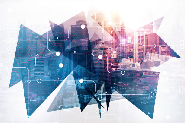 urban technology concept - ecosystem stock photos and pictures