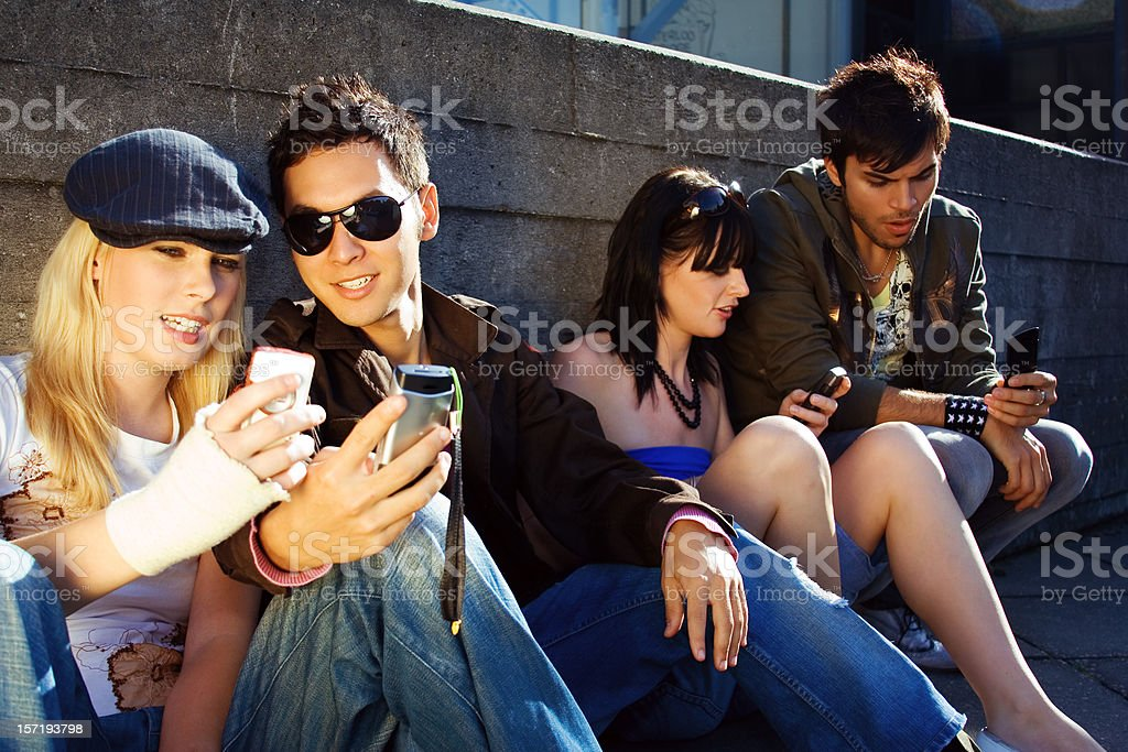 Urban teenagers stock photo