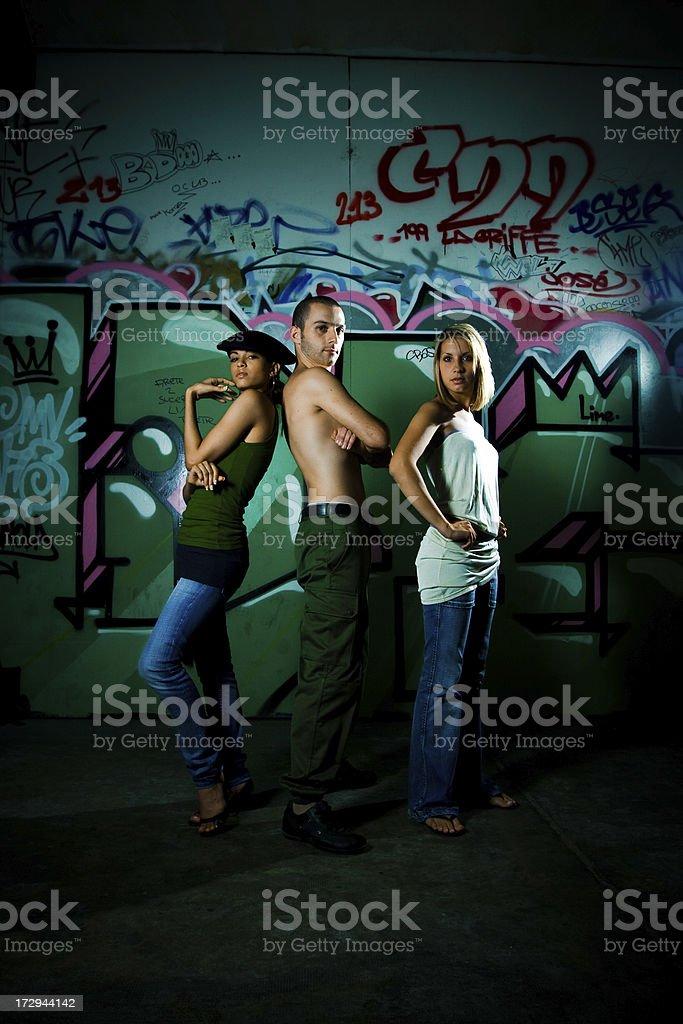 Urban teens stock photo