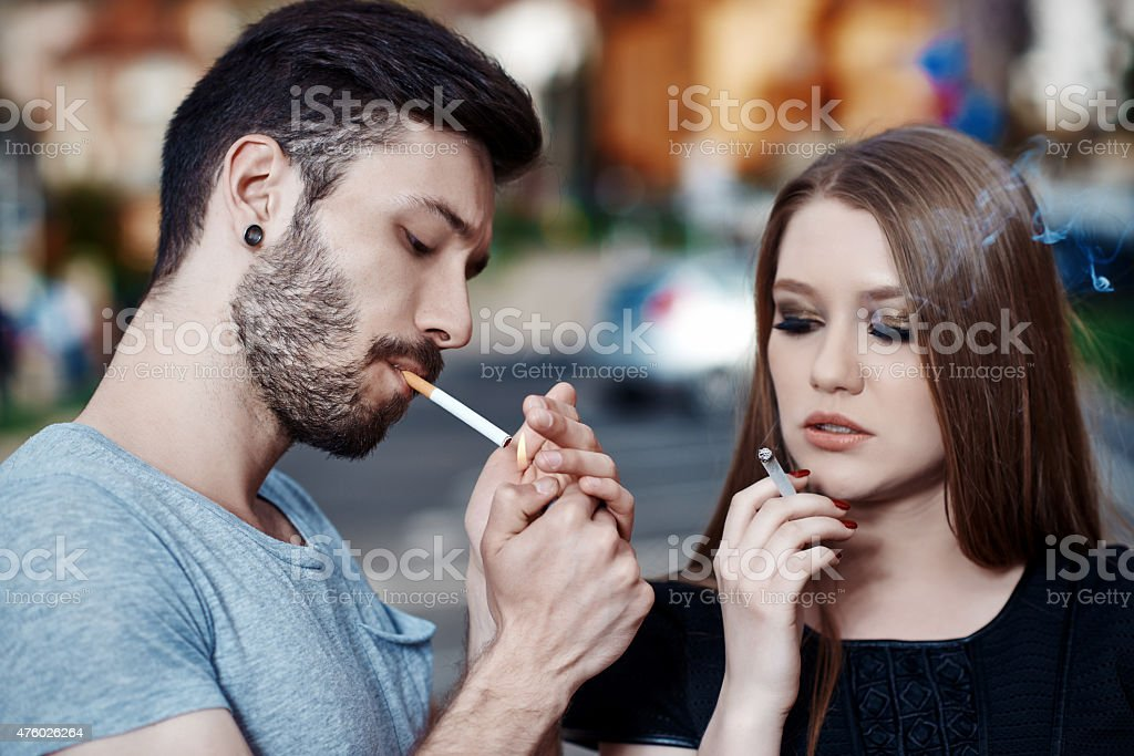 Urban Teens Smoking In City View Stock Photo Download Image Now