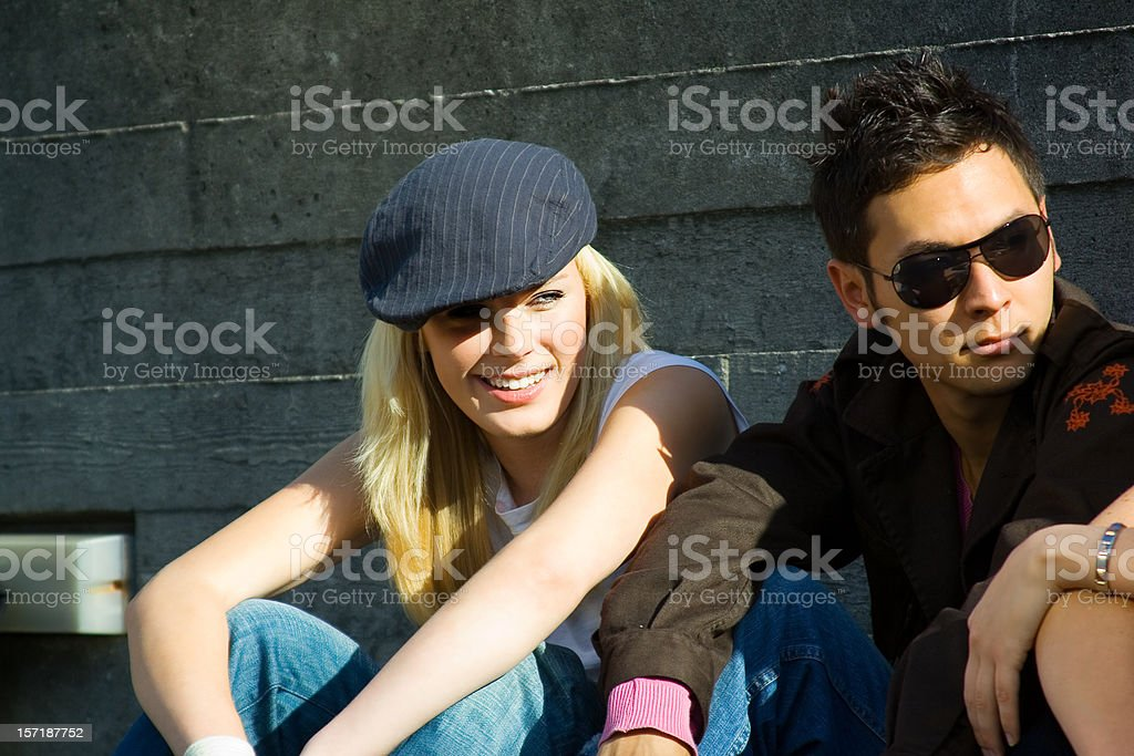 Urban tennagers royalty-free stock photo