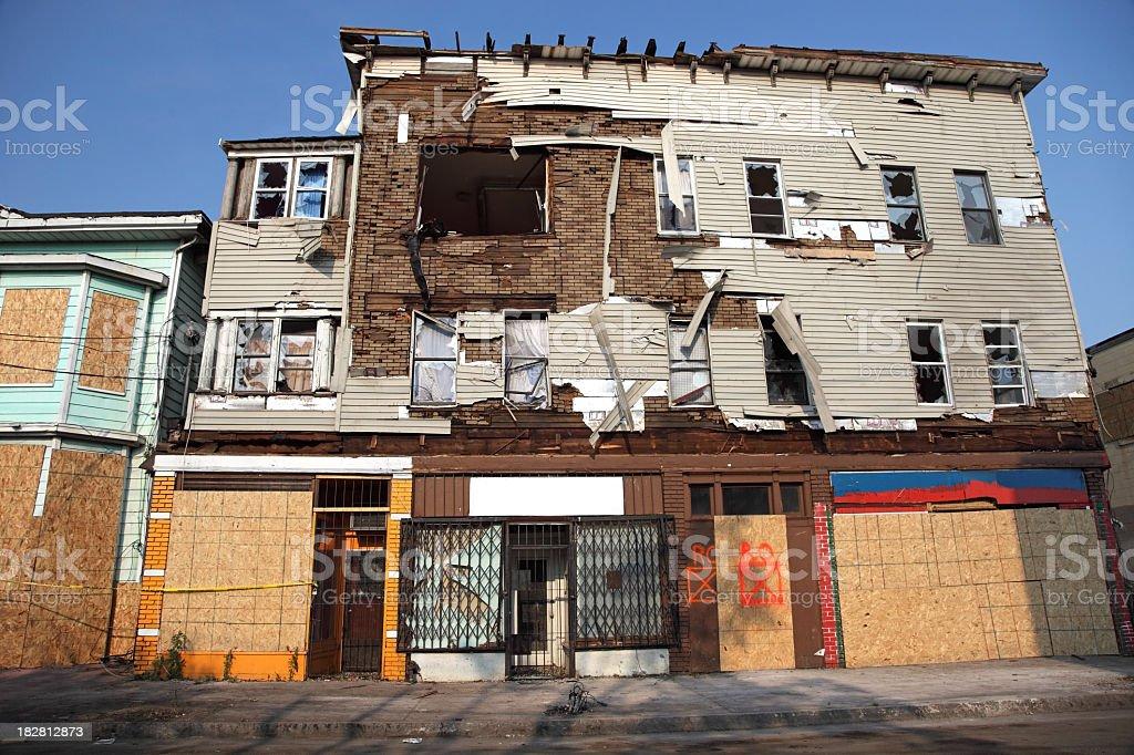 Urban Tornado Damage royalty-free stock photo