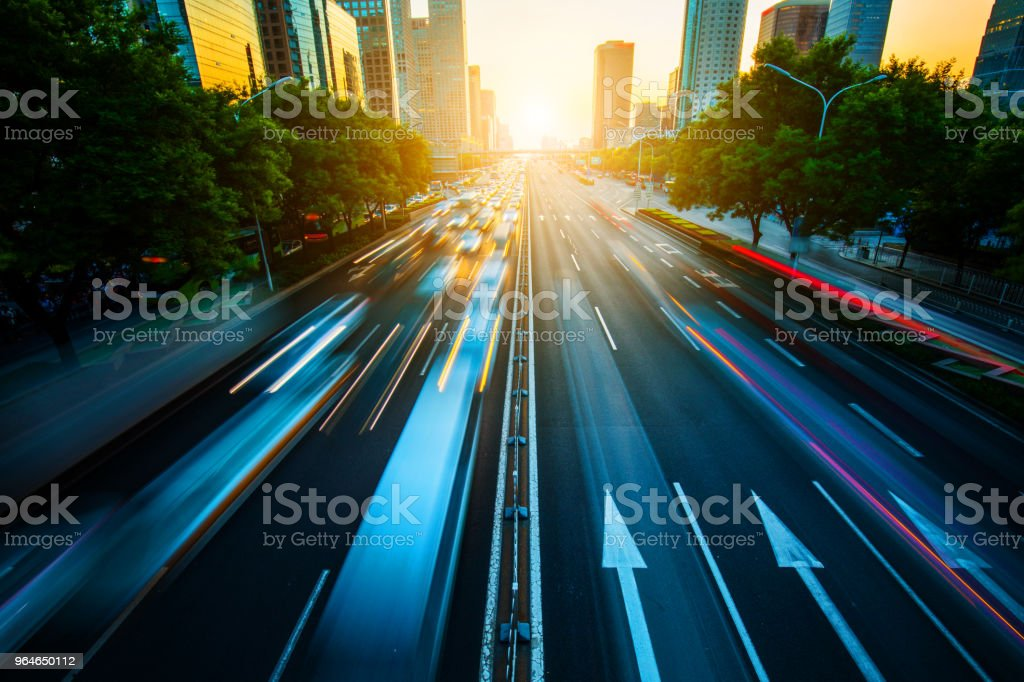 Urban traffic royalty-free stock photo