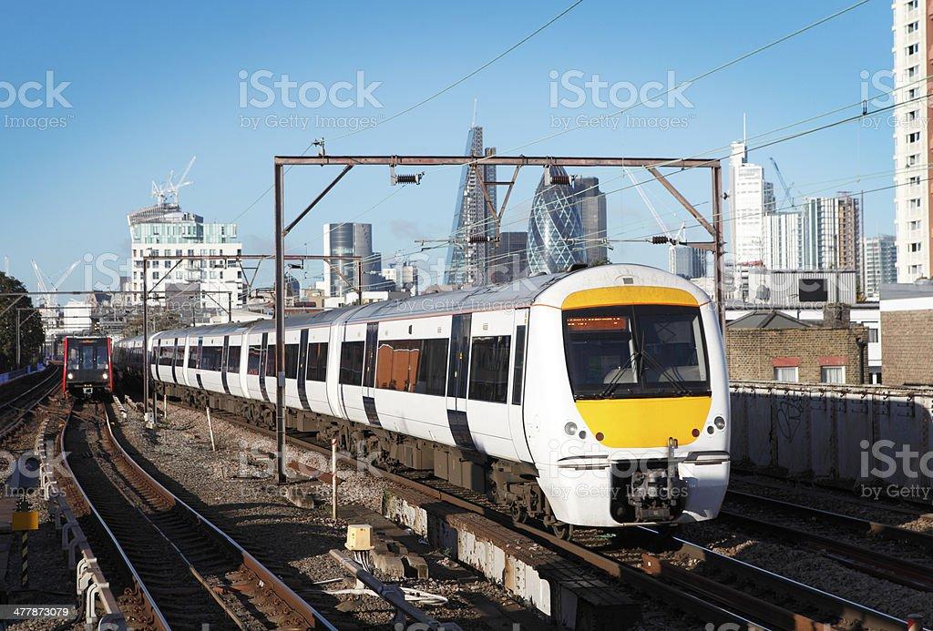 Urban Zug in London Lizenzfreies stock-foto