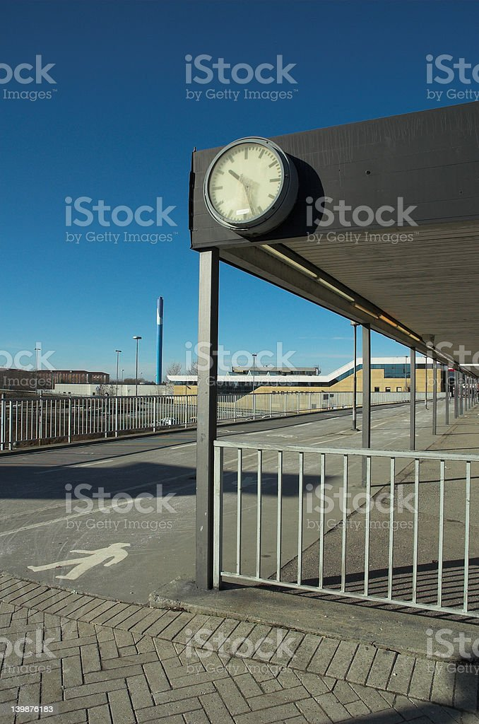 Urban train station stock photo