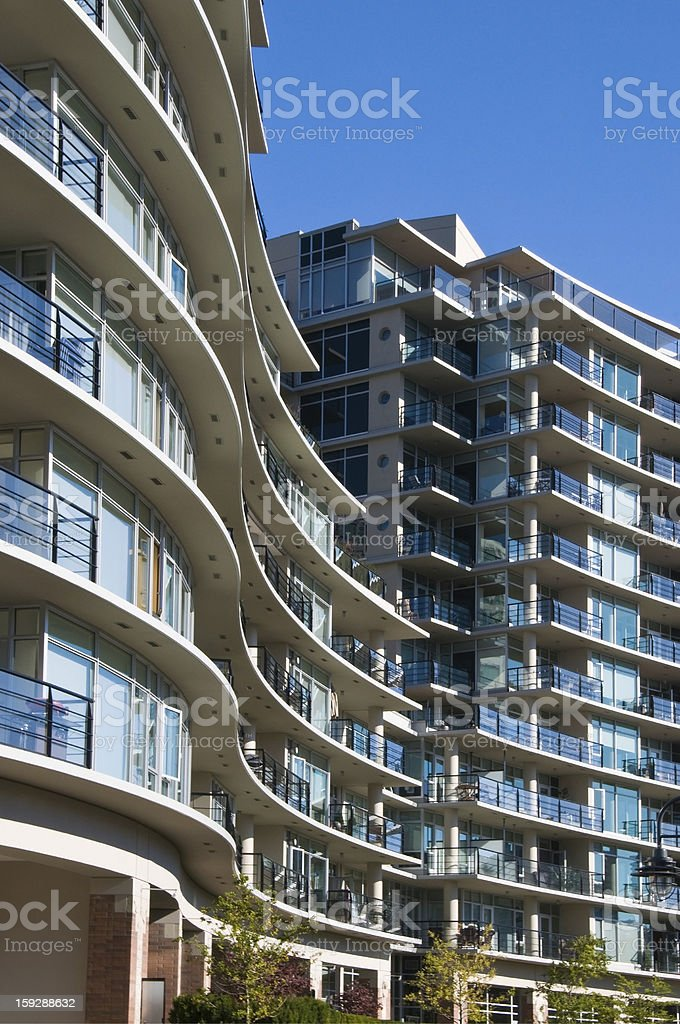 Urban view - condominium or apartment building royalty-free stock photo