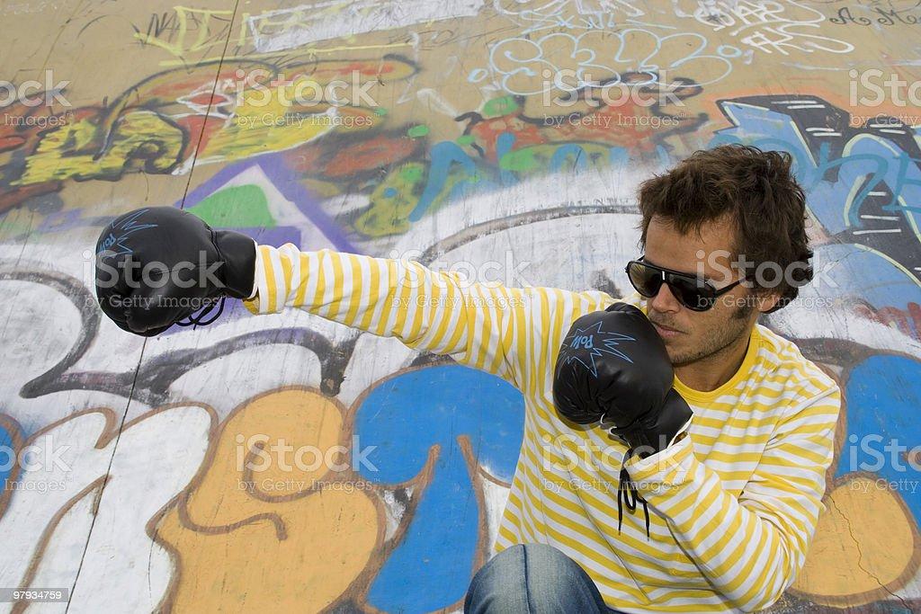 Urban Violence royalty-free stock photo