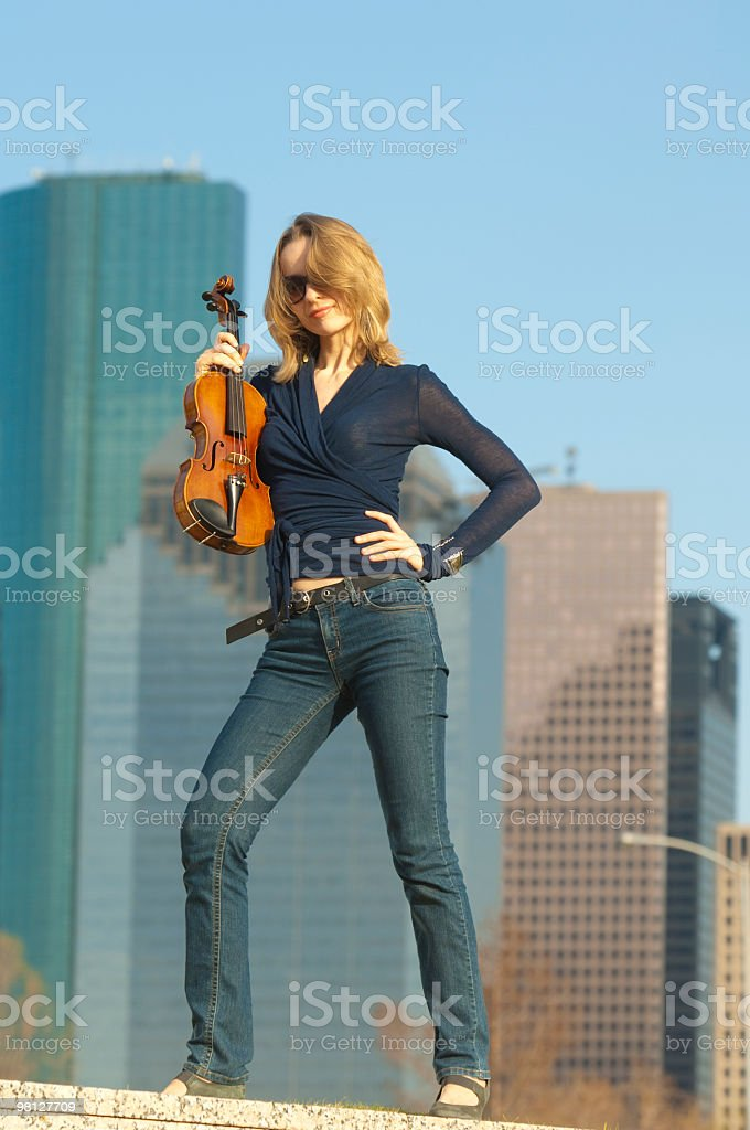 Urban Violinist royalty-free stock photo