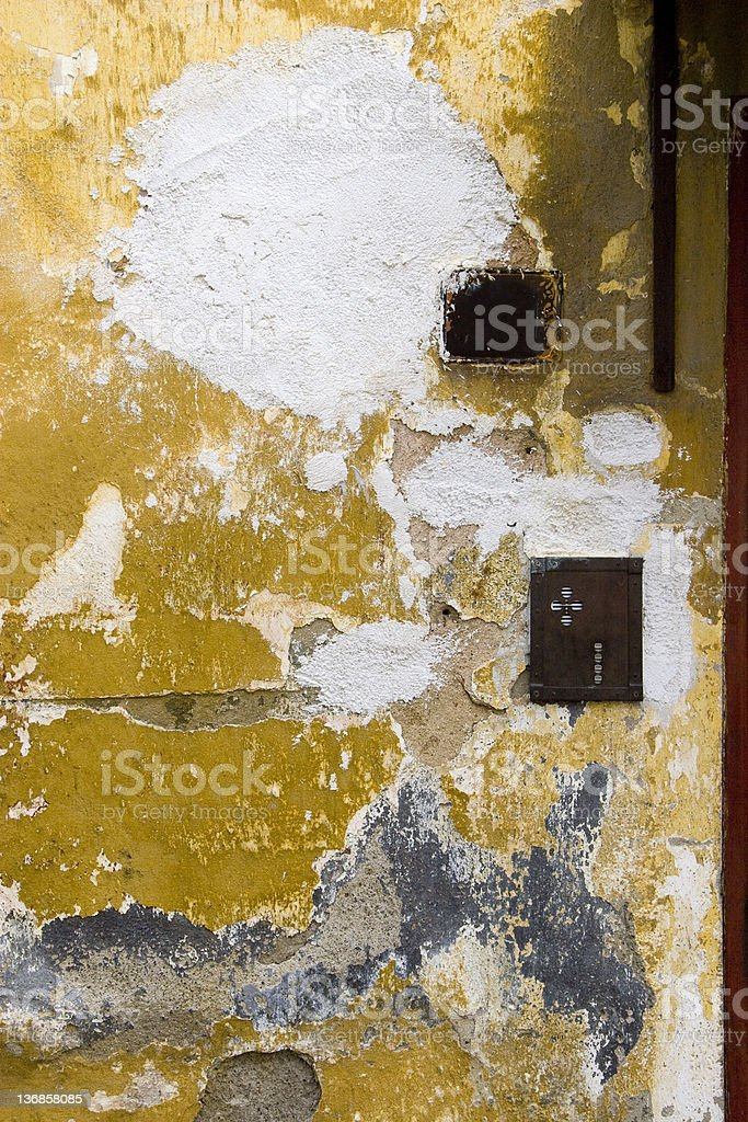 Urban Wall Grunge Grungy texture shot of a wall in an urban location. Backgrounds Stock Photo