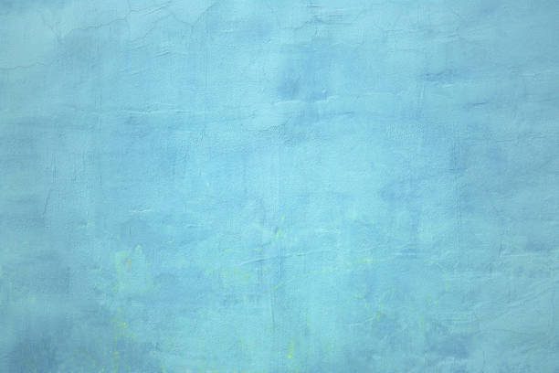 Urban wall, the concrete surface is blue, the color of cement texture stock photo