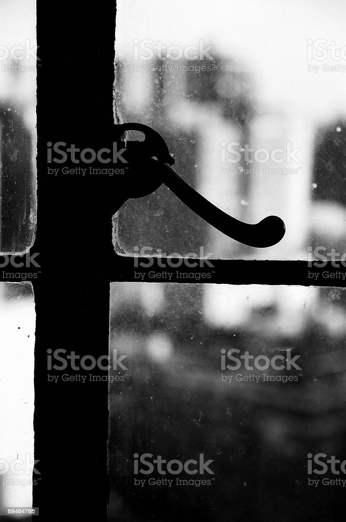 Urban Window Knob royalty-free stock photo