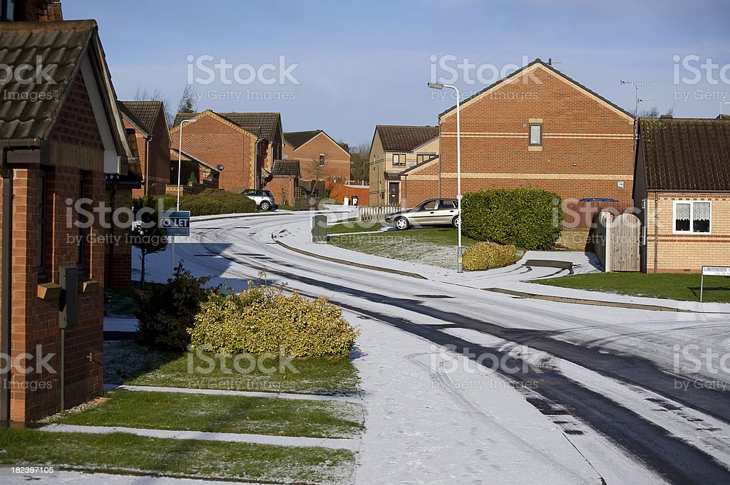 Urban Winter Scene in Wolverhampton stock photo