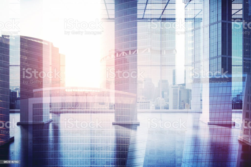 Conceito urbano local de trabalho - Foto de stock de Arranha-céu royalty-free