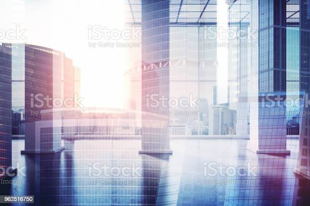 Foto de Conceito Urbano Local De Trabalho e mais fotos de stock de Arranha-céu