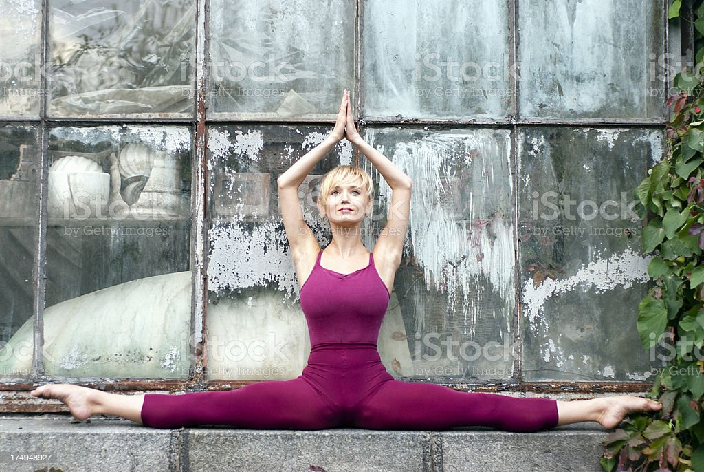 Urban Yoga royalty-free stock photo