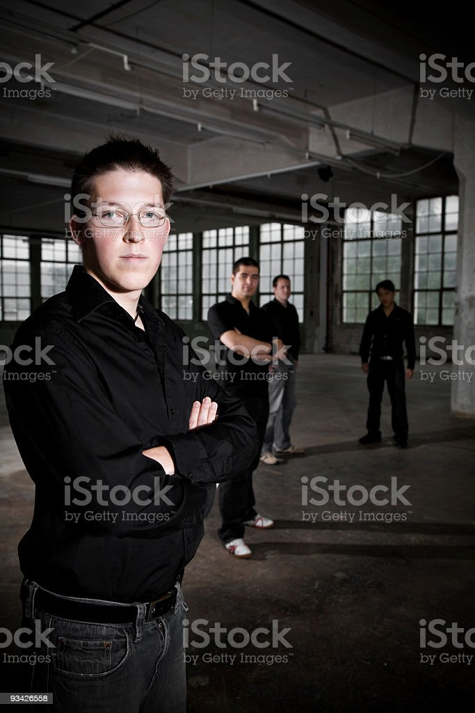 urban youth group portrait stock photo
