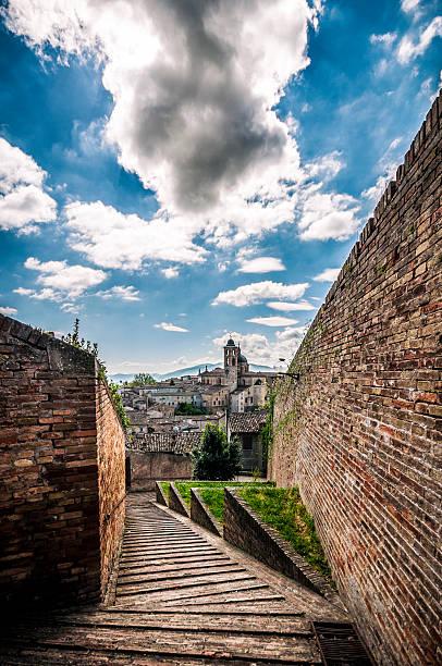 Urbino, Palazzo Ducale and surroundings, Marche Italy foto