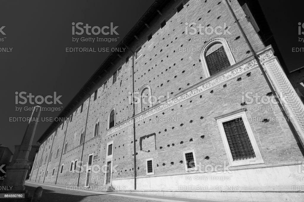 Urbino (Italy), Palazzo Ducale stock photo