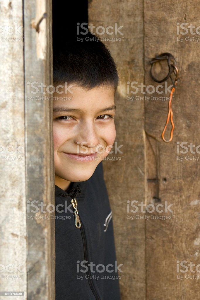 urchin boy stock photo