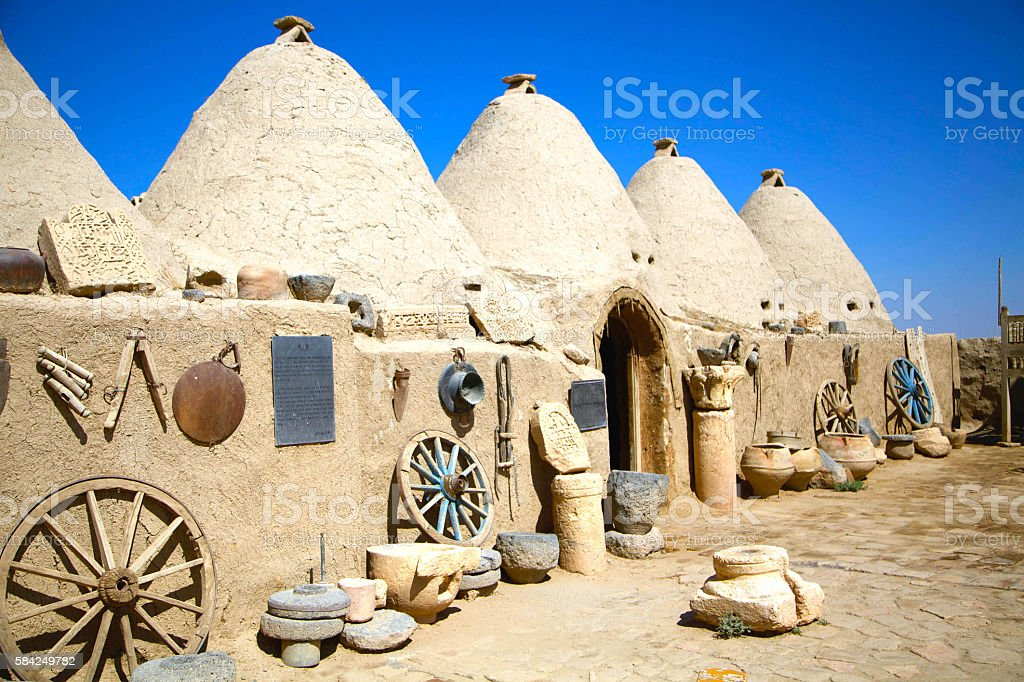 Urfa Harran House stock photo