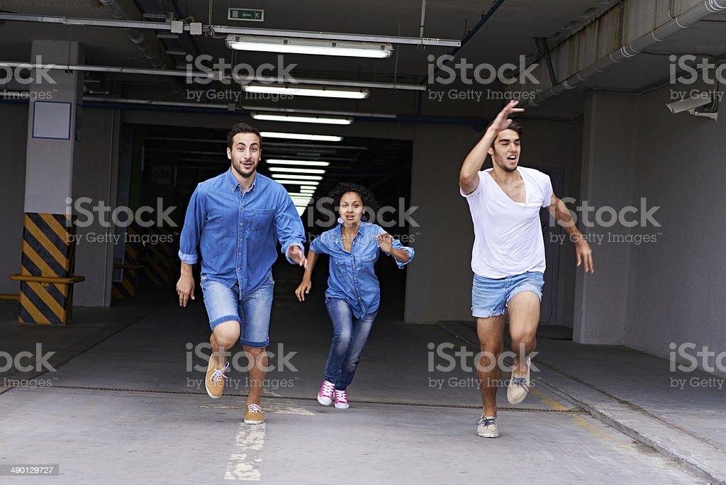 Urgent escape stock photo