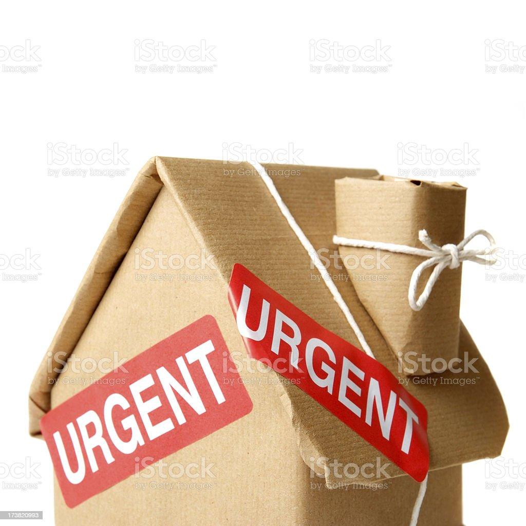 Urgent House Pacrel royalty-free stock photo