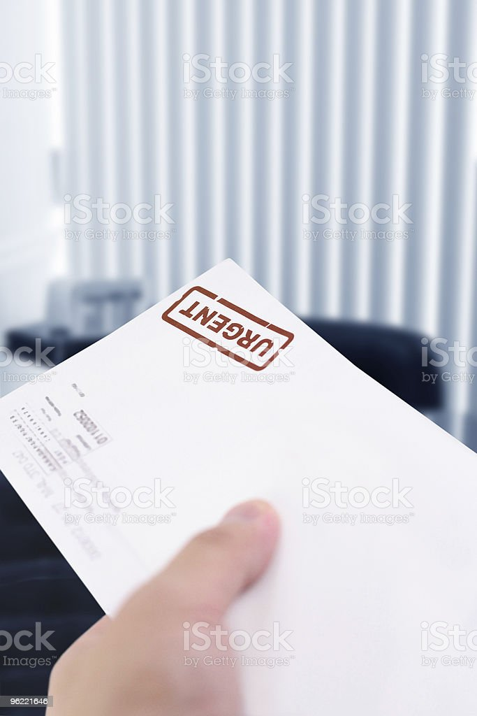 urgent letter stock photo