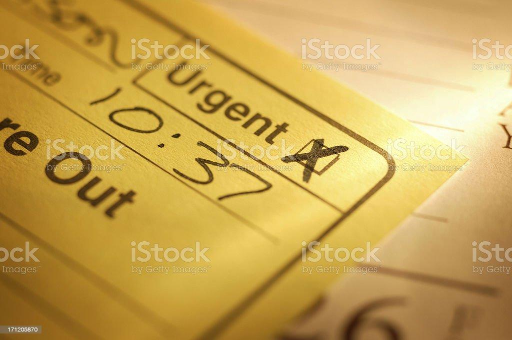 Urgent Message stock photo