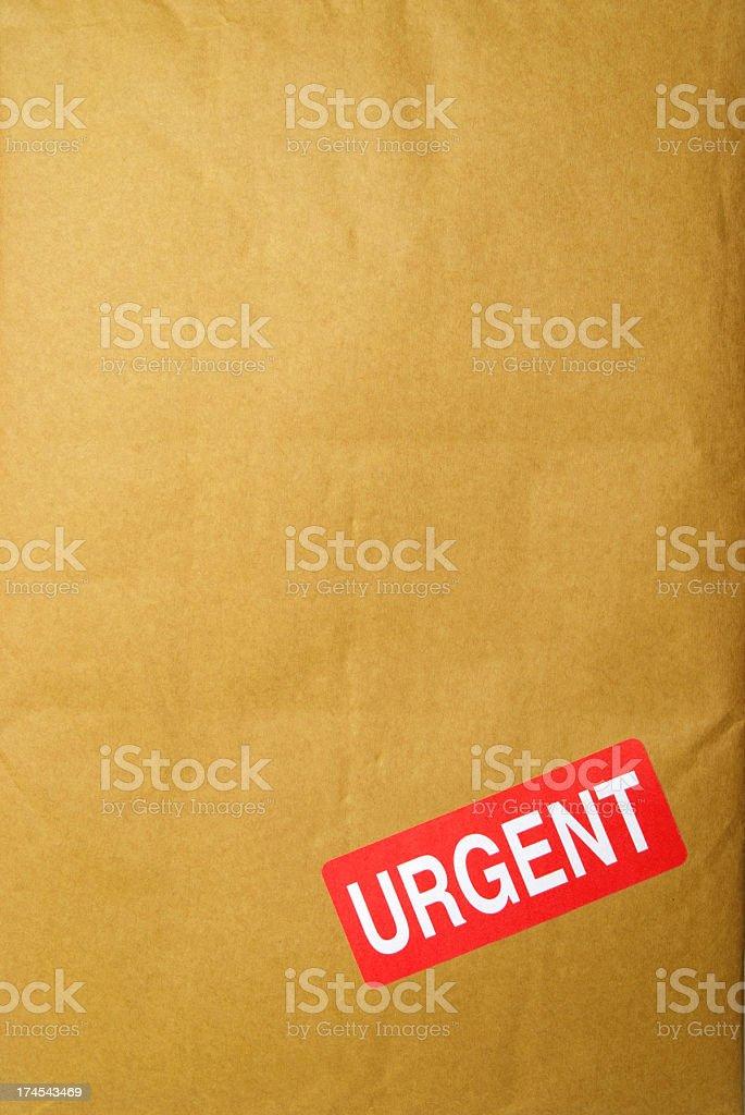Urgent Parcel royalty-free stock photo