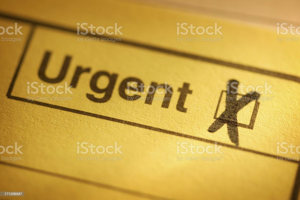 Urgent royalty-free stock photo