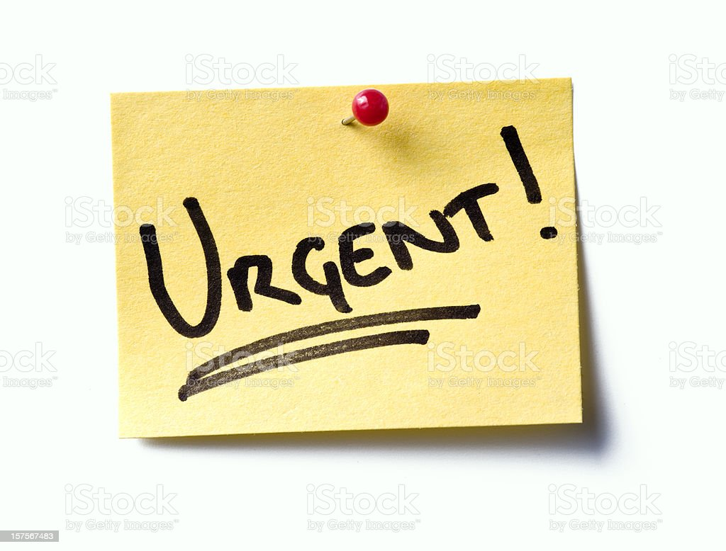 Urgent! post-it. royalty-free stock photo