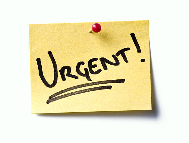 Urgent! post-it.  ASAP stock pictures, royalty-free photos & images