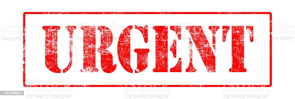 Urgent - Rubber Stamp stock photo