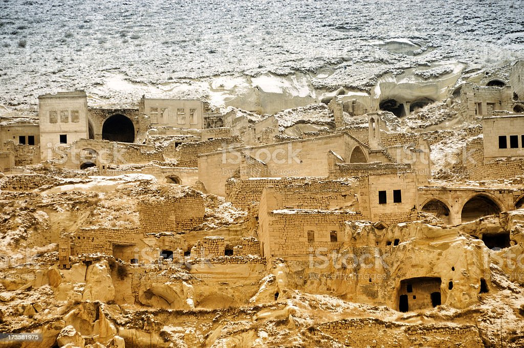 Urgup, Houses in Cappadocia, Nevsehir, Turkey stock photo