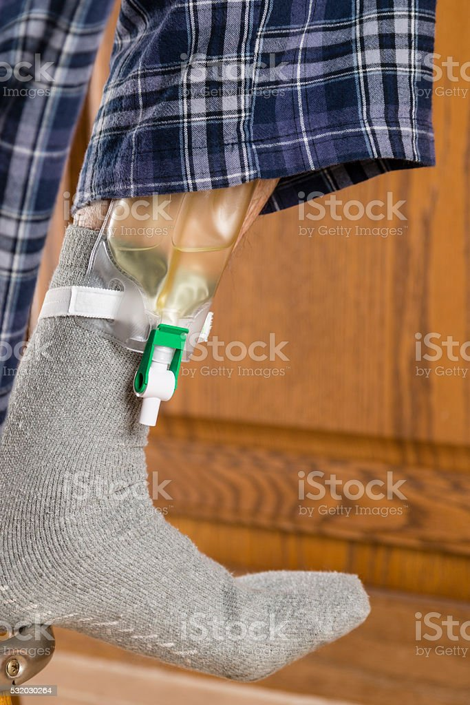 Urinary Collection Bag stock photo
